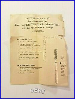 Vintage Evening Star Aluminum Christmas Tree Wall Mount Model #200 2 Feet Tall