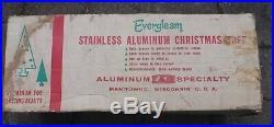 Vintage Evergleam 91 Branch 6FT Stainless Pom Pom Aluminum Christmas Tree