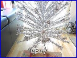 Vintage Evergleam 94 Branch 6 Foot Tall Pom Pom Aluminum Christmas Tree
