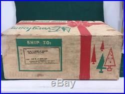 Vintage Evergleam Aluminum Christmas 14 Revolving Tree Stand MID Century Nos