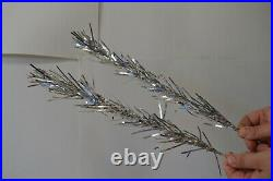 Vintage Evergleam Deluxe Stainless Aluminum 4 FT Christmas Tree With Box MCM