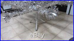 Vintage Evergleam Stainless Aluminum 4 Ft. Christmas Tree, Complete, 58 Branches