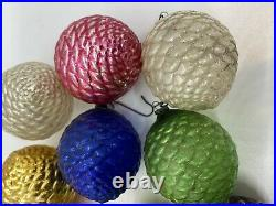 Vintage Feather Tree Glass Fancy Pinecone Ornaments Very Unique