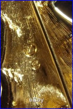 Vintage Fine Swarovski Crystal Rhinestone Christmas Tree Pin/Brooch Swan Logo