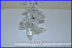 Vintage French Schneider Clear Art Glass Christmas Tree, 9