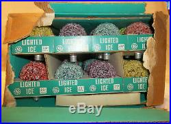 Vintage GE Lighted Ice Frosted Christmas Tree Light Bulbs CASE OF 48 NOS