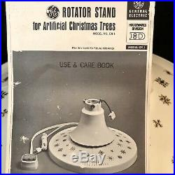 Vintage Ge Christmas Tree Stand Musical Rotating Artificial Tree Stand Orig Box