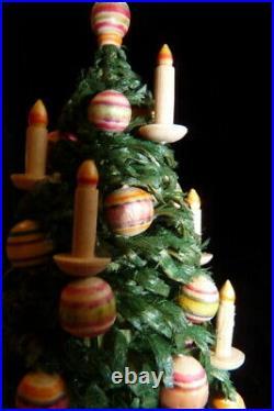 Vintage German 5.75 WOOD CHRISTMAS TREE 112 Dollhouse Miniature