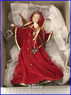 Vintage German Christmas Tree Top Koestel Angel figurine 11 1/2 inches tall
