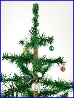 Vintage German Musical Rotating Christmas Tree Stand With Feather Tree ca1940