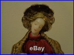 Vintage German Wax Virgin Mary & Baby Jesus Madonna 15 Xmas Tree Topper Figure