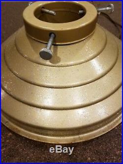 Vintage Gold Glitter Musical Rotating Christmas Tree Stand Jingle Bells