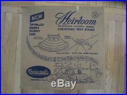 Vintage Gold Spincraft Heirloom Musical Christmas Tree Stand & Original Box