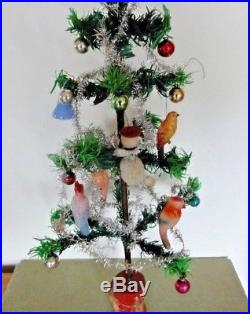 Vintage Goose Feather Christmas Tree, Decorated, Fairy, 24 Inches Tall