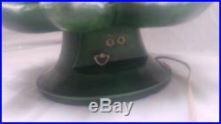 Vintage Green Ceramic Christmas Tree Light Large 18 Mold 1974 Music Box