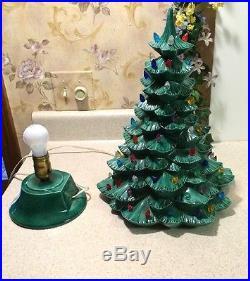 great vintage green ceramic christmas tree with dove lights and base with vintage ceramic christmas tree lights - Green Ceramic Christmas Tree With Lights