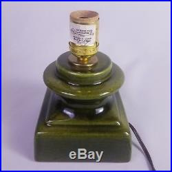 Vintage Green Ceramic Lighted Christmas Tree With Box Raymond Lamp Co 18 inch