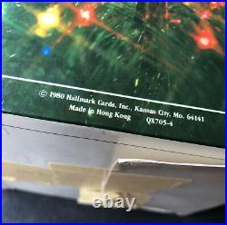 Vintage HALLMARK 1980 Brass Star Tree Topper in Original Box Hong Kong QX705-4