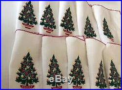 Vintage Hand Embroidered Xmas Tree 10 Cocktail Napkins Sinatra Estate