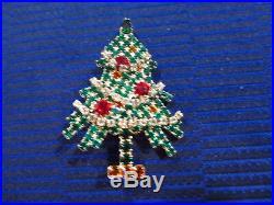 Vintage Hard to Find, Eisenberg Ice Christmas Tree Brooch Signed