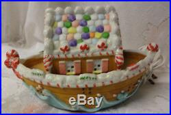 Vintage Holiday Christmas Tree Gingerbread Cookie Lighted House Noah's Ark RARE