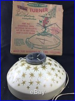 Vintage Holly Time Atomic Star Revolving Artificial Christmas Tree Stand