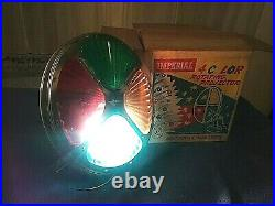 Vintage Imperial 4 Color Rotating Projector Wheel Use On Christmas Aluminum Tree