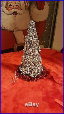 Vintage Jewelry Cone Christmas Tree