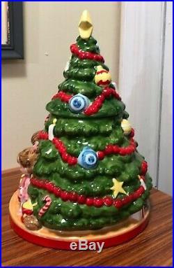 Vintage Joan Walsh Anglund Christmas Tree Cookie Jar, Ceramic 1978