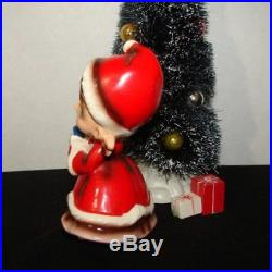 Vintage Josef Originals Giirl w Christmas Tree & Gifts