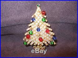 Vintage Kramer Christmas tree pin brooch, Y32