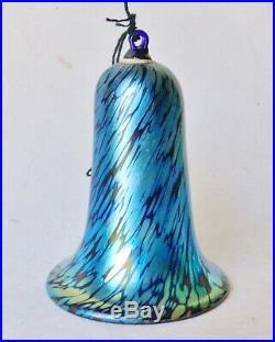 Vintage LUNDBERG STUDIOS Pair Aurene Studio Art Glass Christmas Tree Ornaments