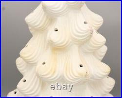 Vintage Large 21 Atlantic Mold Ceramic Christmas Tree White UNGLAZED Tree Only