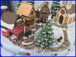 Vintage Large Ceramic Mold Christmas Village With Trees Base Reindeer Figures +