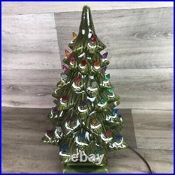 Vintage Large Ceramic Multi Color Lights Christmas Tree Raymond Lamp Co. 17