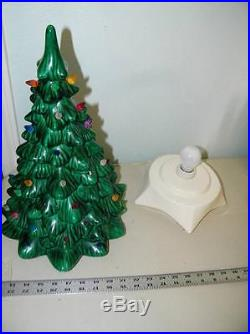 vintage large green ceramic christmas tree lighted light xmas 11351 - Large Ceramic Christmas Tree