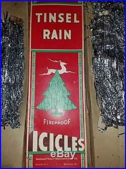 Vintage Lead Christmas Icicles, Tree Tinsel Holiday Decorations extra-long 30s