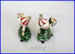 Vintage Lefton Christmas Tree Figurines and candle holders kids as trees rare