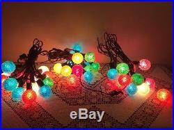 Vintage Lighted Ice Christmas Tree Lights 3 Strands 45 Bulbs
