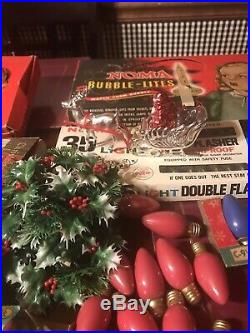 Vintage Lot Huge NOMA Berry Christmas Tree String Lights Working C6 Many Items
