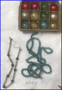 Vintage Lot Mostly German Feather Christmas Tree Ornaments Mercury Glass