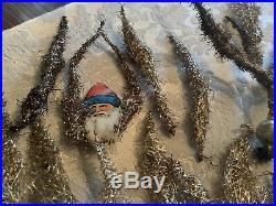 Vintage Lot Of Old German Wire Tinsel Christmas Tree Ornaments