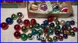 Vintage Lot of 100+ Shiny Brite Glass & Misc Christmas Tree Ornaments