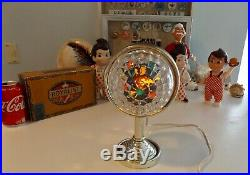 Vintage MCM Bradford Celestial Star Christmas Tree Topper with Gold Tabletop Stand