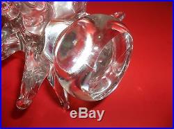 Vintage MURANO Art Glass CHRISTMAS TREE CRYSTAL CLEAR 10.5