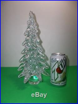 Vintage MURANO Art Glass CHRISTMAS TREE CRYSTAL CLEAR 12