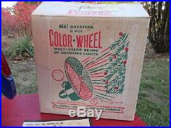 Vintage Magic 12 Rotating Color Wheel for Aluminum Christmas Tree in Box