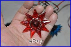 Vintage Matchless Wonder Stars Xmas Tree Light Bulb String Set Noma with Box