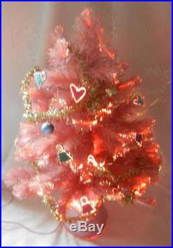 Vintage Mattel Barbie Twinkle Lights Holiday Tree Electric Christmas Ornaments