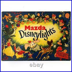 Vintage Mazda Disney Lights Christmas Tree Decoration Lights Bulbs Lamps Working